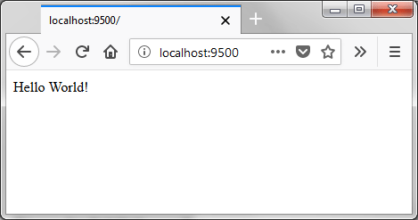 "The text ""Hello World!"" loaded in Firefox"